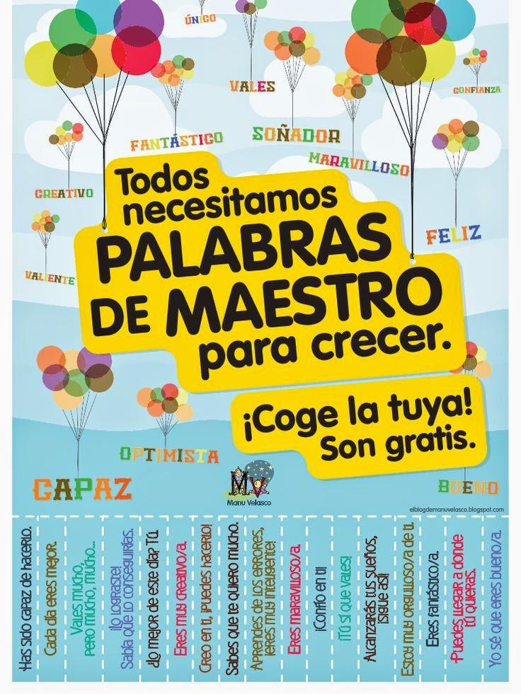 PALABRAS DE MAESTRO