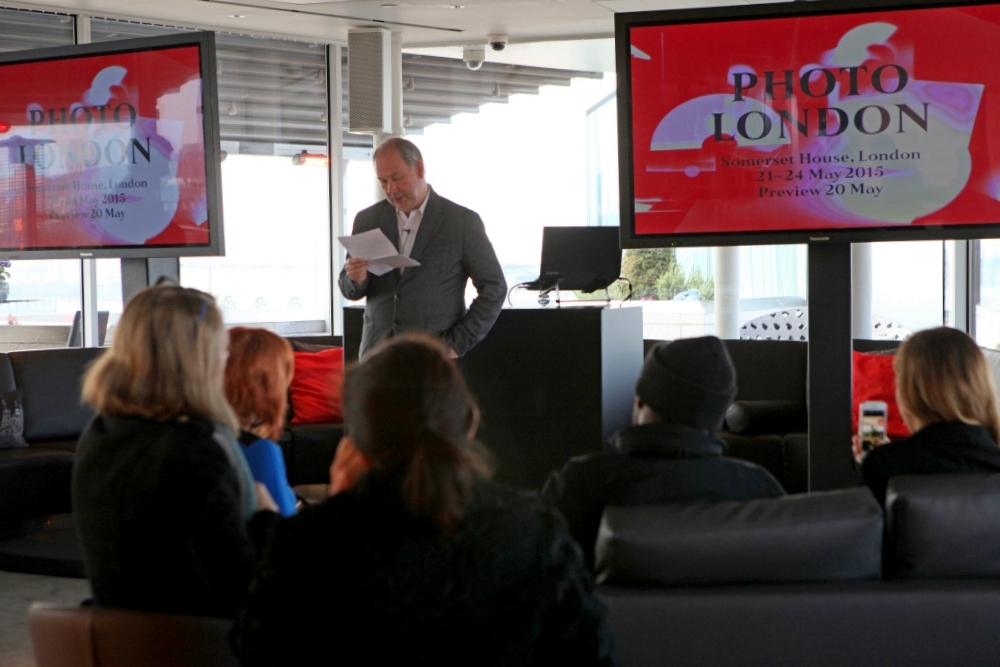 Photo London 2015 Public Programme announced Michael Benson co-director of Photo London gives an introduction © @CamronPR