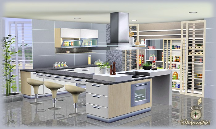 My sims 3 blog form function kitchen pantry and for Sims 3 kitchen designs