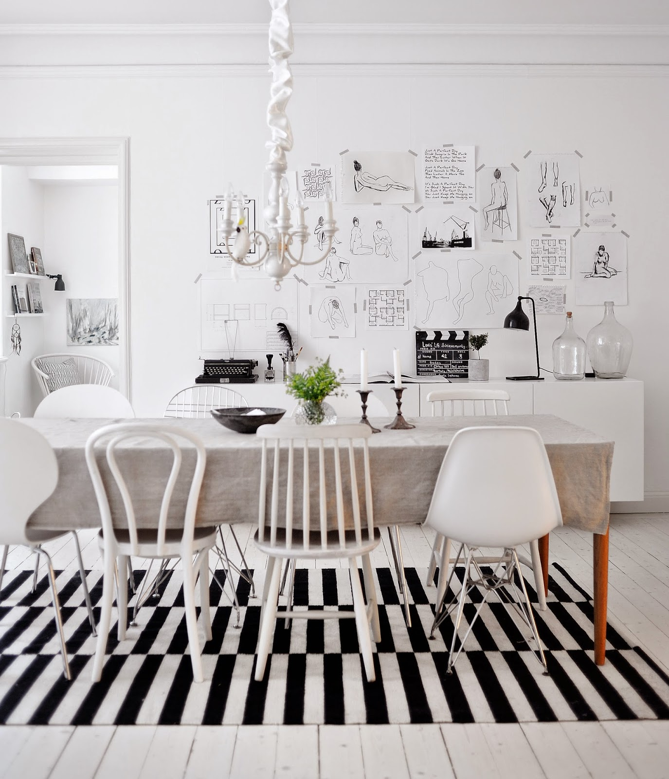 Un int rieur scandinave en blanc et noir for Interieur scandinave