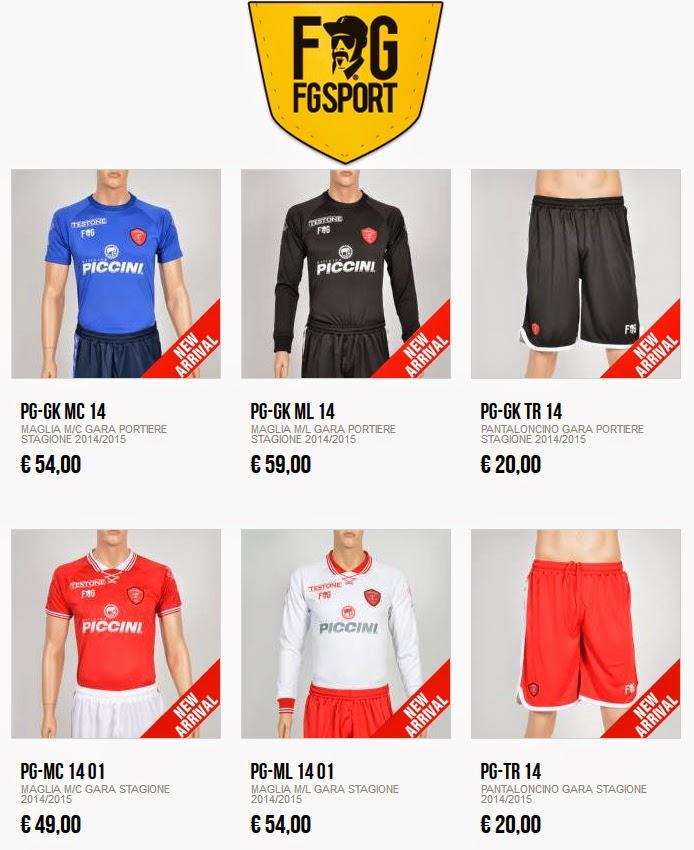 FGSport.it maglia ufficiale AC Perugia Calcio 2014 - 2015