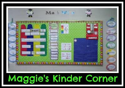 photo of: Maggie's Kinder Corner Focus Wall (Roundup of Behavior Charts via RainbowsWithinReach)