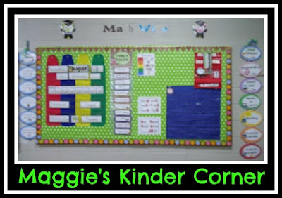 photo of: Maggie's Kinder Corner Focus Wall (Roundup of Behavior Charts via RainbowsWithinReach)