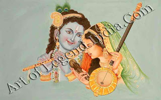 Mirabai With Krishna