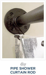 DIY Pipe Shower Curtain Rod