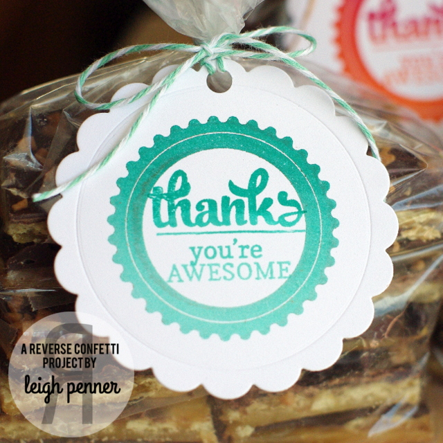 Countdown to Confetti: Circle Sentiments & God is Good Leigh Penner @reverseconfetti #reverseconfetti #tags #treatbags