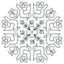 ... Rangavalli Muggulu with dots - long lines - andhra muggulu designes
