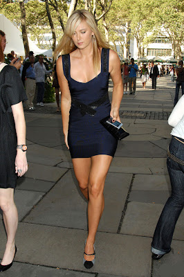 Maria Sharapova Sexy Blue Party Dress