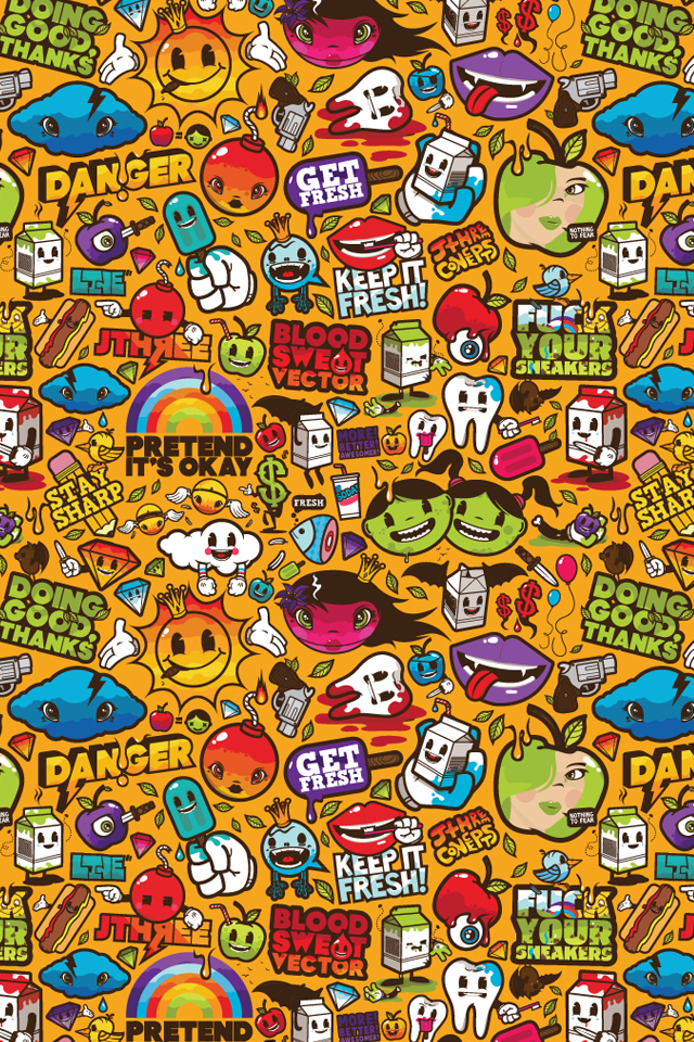 Group Of Cartoon Hd Iphone Wallpapers