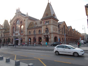 """""""Central Market Hall"""" building in Budapest."""