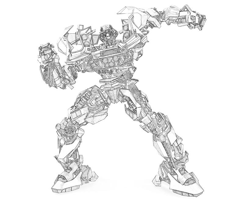 Transformers Ratchet Coloring Coloring