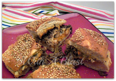 With A Blast: Triple Cheese Steak & Mushroom   #sandwich  #steakroll