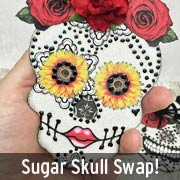 Alpha Stamps Sugar Skull Swap 2015