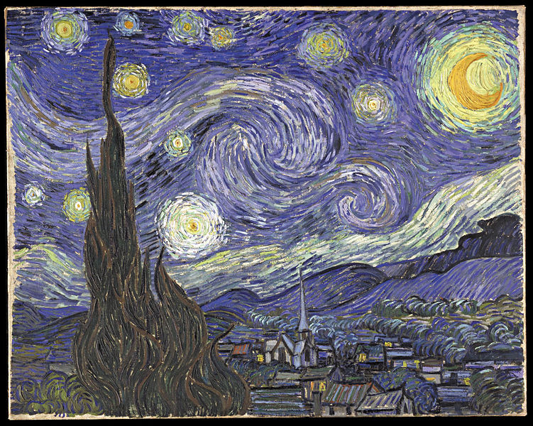 Starry Night, Van Gogh, (c.1889)