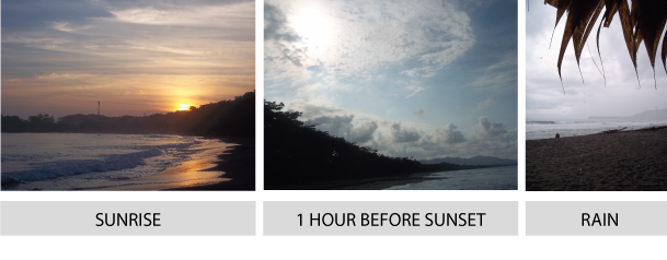 Sunrise and Sunset over Puerto Viejo