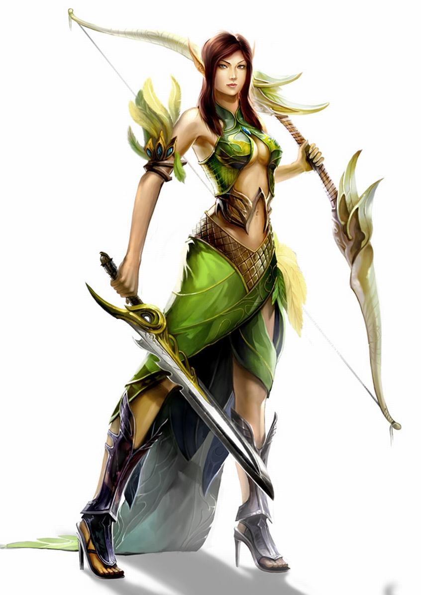 Anime elf female warrior images cartoon movie