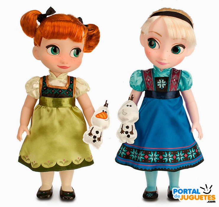 muñecas elsa anna segunda edicion coleccion disney animators frozen mascota