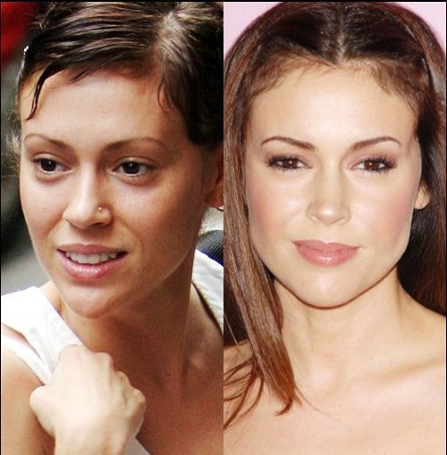 Alyssa Milano sans maquillage