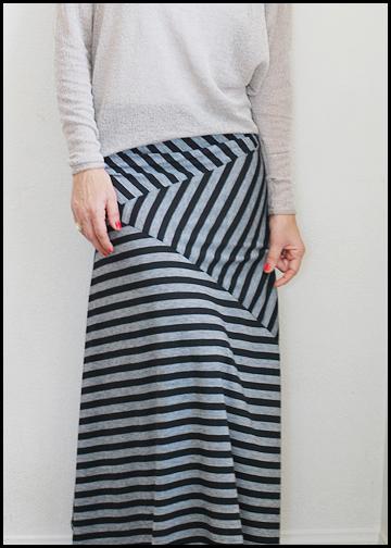 pretty ditty stripe play maxi skirt