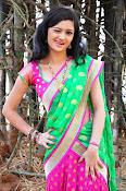 Pujitha sizzling in half saree-thumbnail-12
