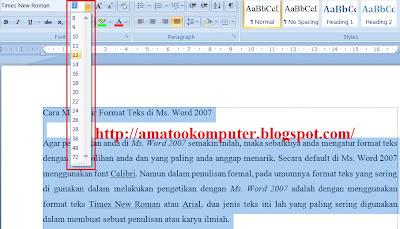 Cara Mengatur Format Teks di Microsof Word 2007 2