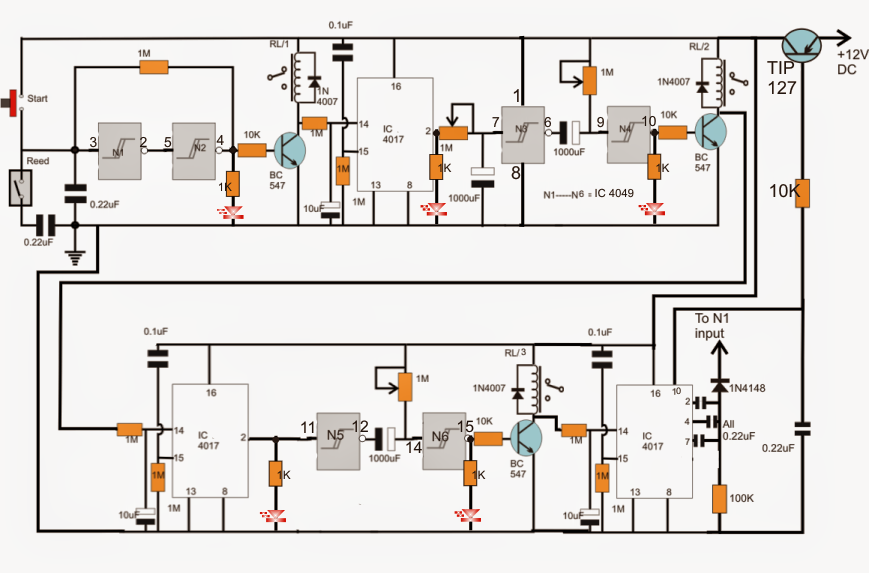industrial tank water fill  drain controller circuit