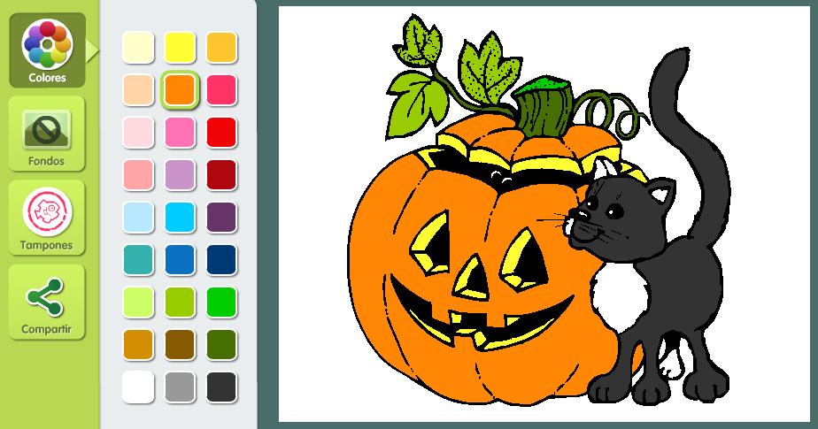 http://fiestas.dibujos.net/halloween/calabaza-y-gato.html