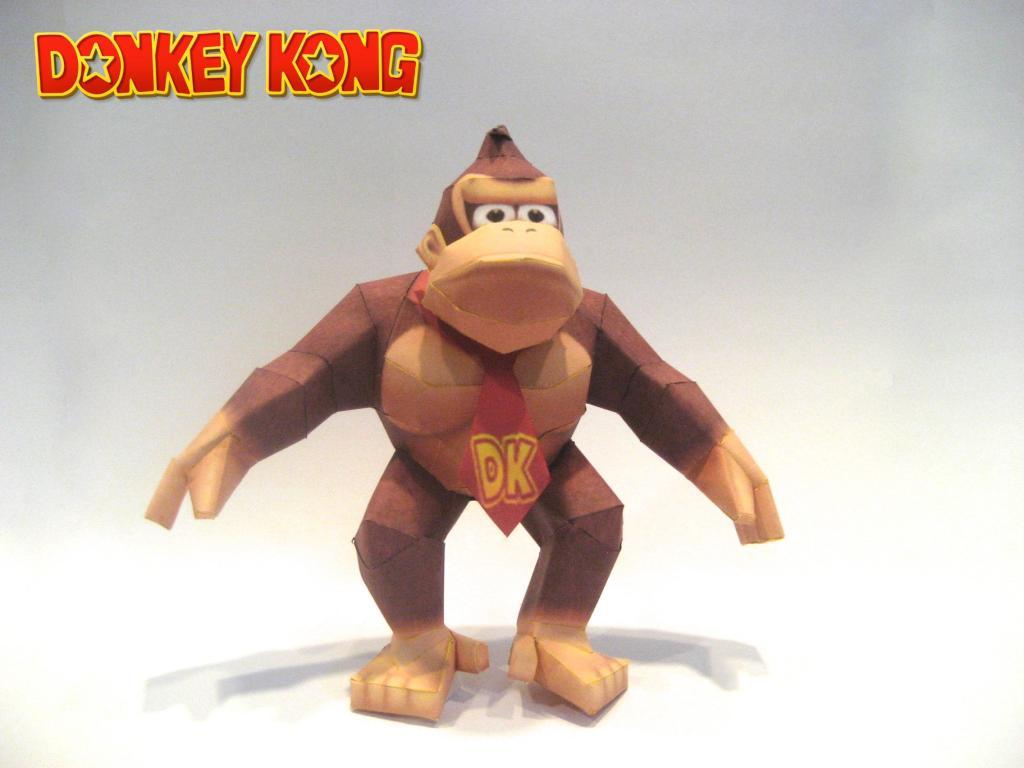 Donkey Kong Paper Model