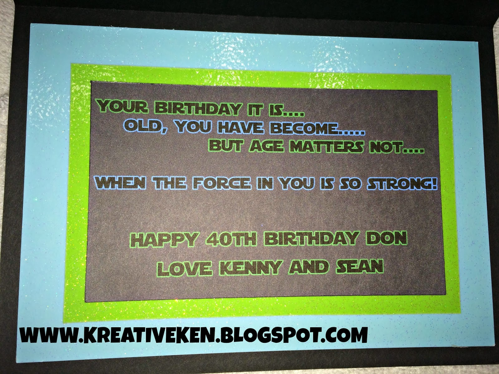 Star wars birthday card kens kreations i used the star wars font found at dafont and came up wording as in the style of yoda this was a print and cut as well bookmarktalkfo Choice Image