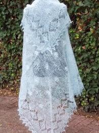 TE koop: grote vierkante bruidssjaal