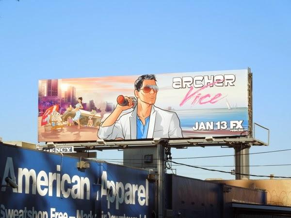 Archer Vice season 5 billboard