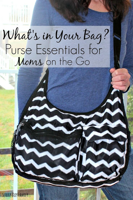 5 Purse Essentials for Moms! Keep these things in your purse to stay healthy on the go (including a secret double-duty item you won't want to leave home without!).