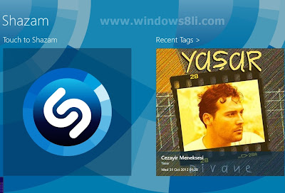 Windows 8 Shazam