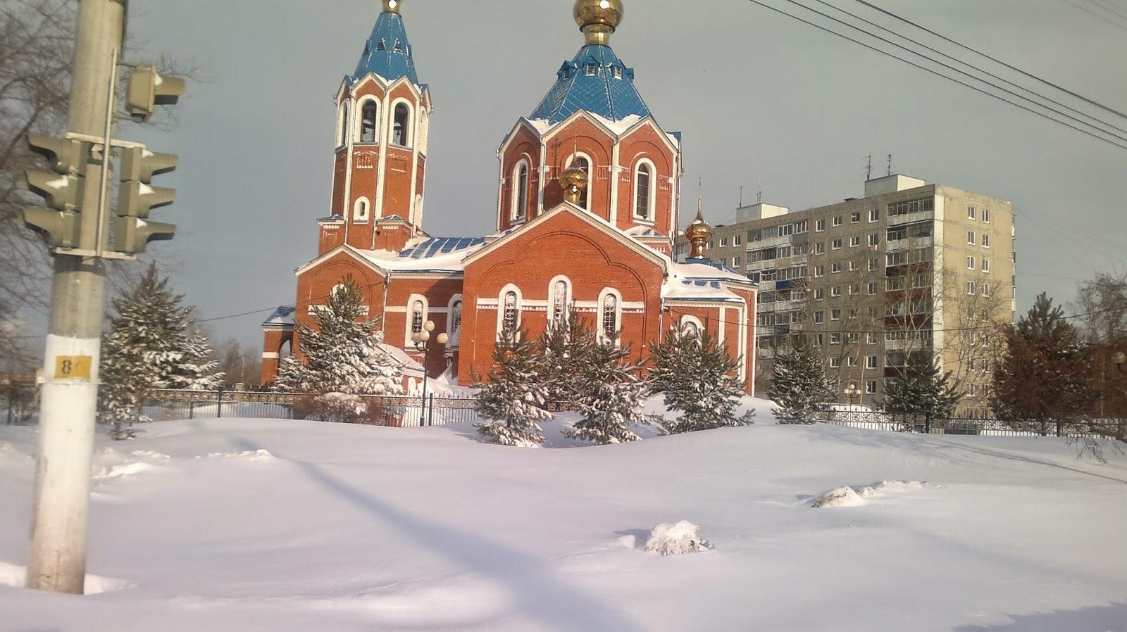 Церковь на Проспекте Первостроителей в Комсомольске на Амуре