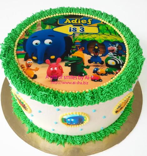 Rainbow Cake Edible Image Ai-sha Puchong Jaya