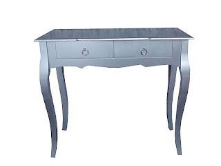 mueble plata, consola plata, recibidor color plata