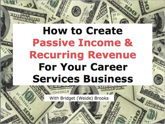 smart ways to create passive income in your resume writing business