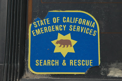 State of California Emergency Services Search and Rescue Sticker.