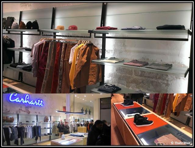 Collection Hommes boutique carhartt Marais Sophnet, 57 rue du temple