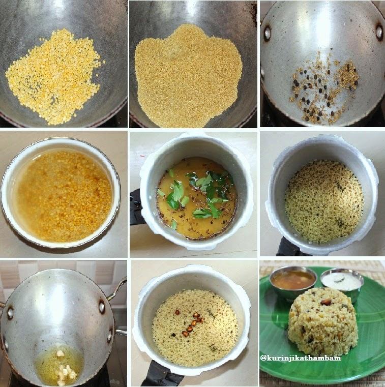 Foxtail Millet / Thinai Pongal / Foxtail Millet Recipes