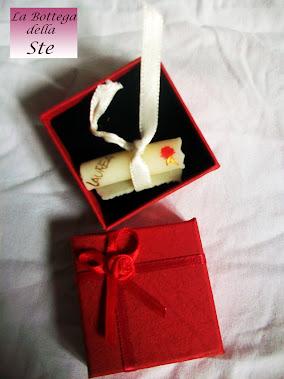 Bomboniere laurea, pergamenna personalizzabile con nome artigianale, fatta a mano con pasta di mais
