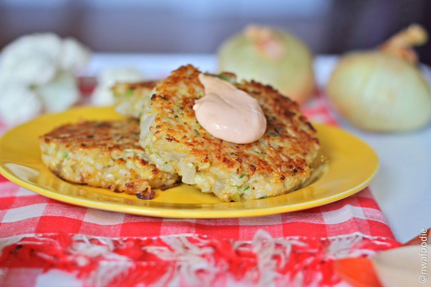 How to make cauliflower and rice croquettes patties cakes (c)nwafoodie