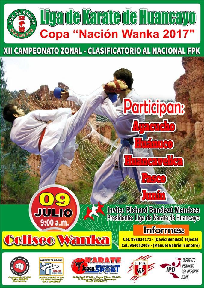 "XII CAMPEONATO ZONAL - CLASIFICATORIO AL NACIONAL FPK ""Copa Nacion Wanka"" Huancayo-Perù"