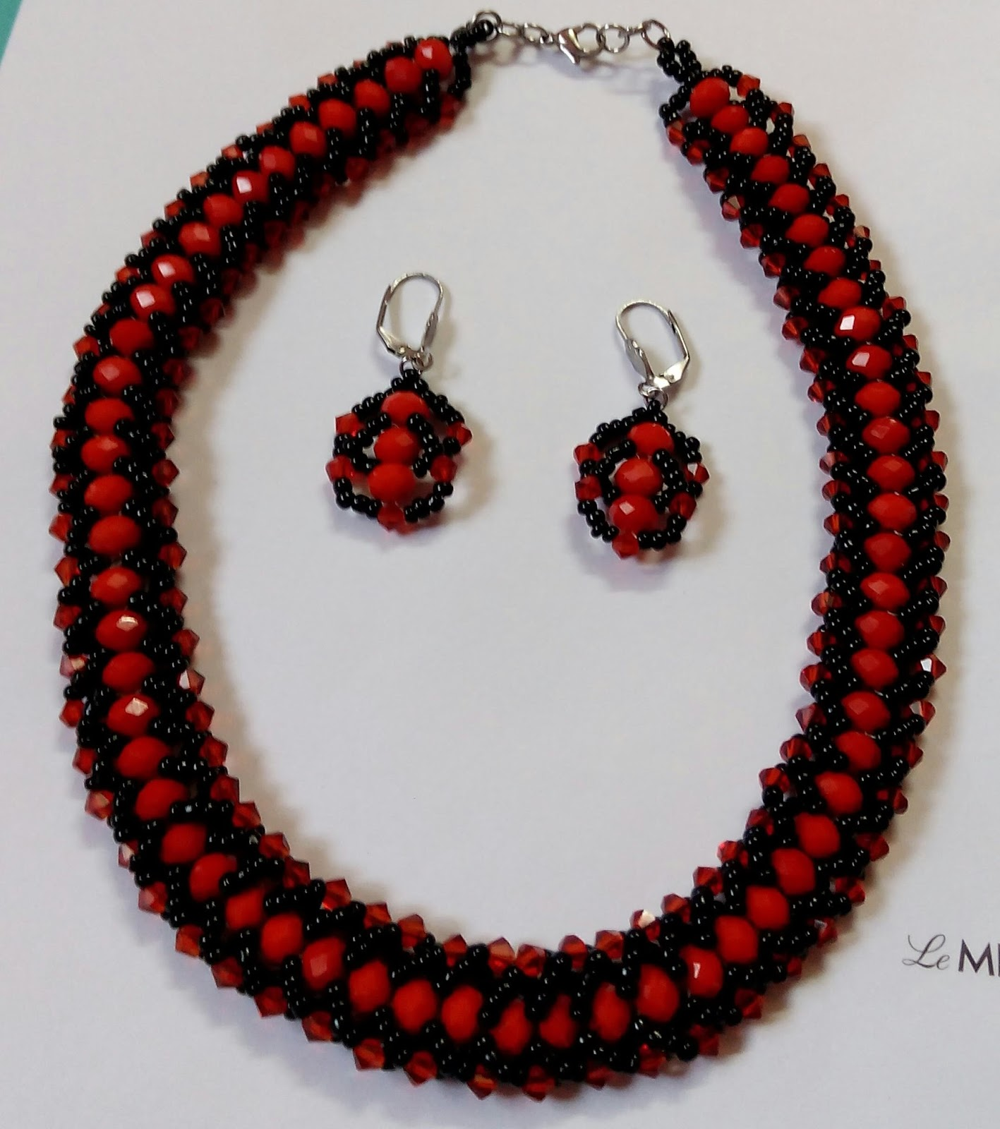 Beadination: Flat Spiral Beaded Necklace Tutorial