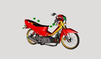 Mod Vega R merah