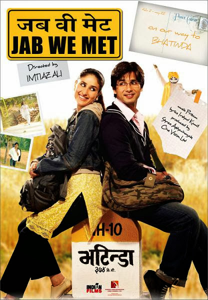 Poster Of Hindi Movie Jab We Met (2007) Free Download Full New Hindi Movie Watch Online At worldfree4u.com