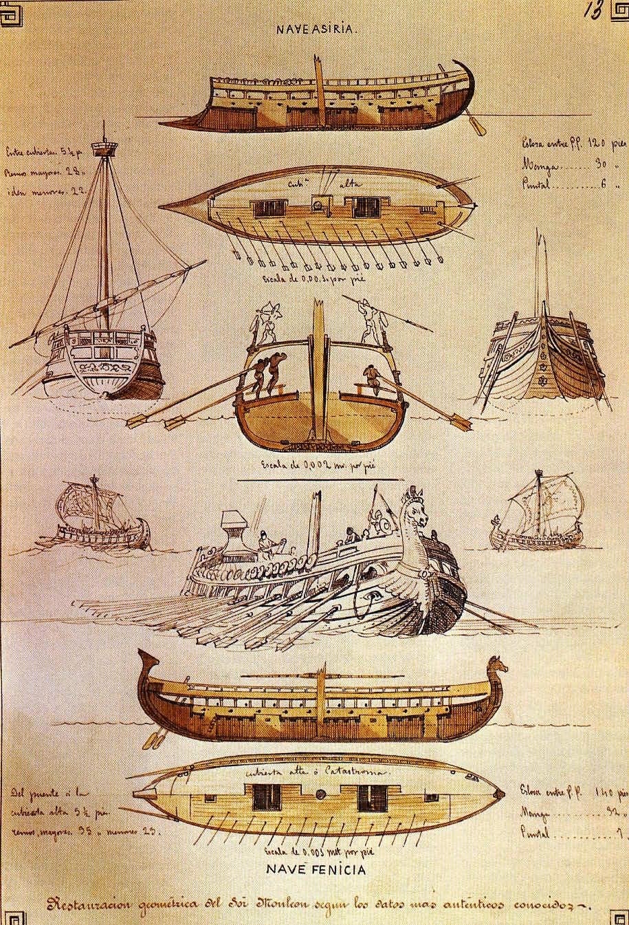 Historia universal los fenicios for Arquitectura naval e ingenieria maritima