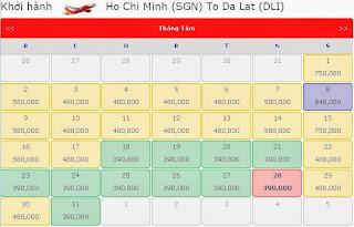 Giá vé máy bay đi Đà Lạt tháng 8