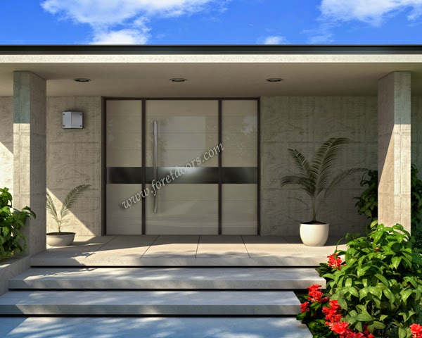 Puerta moderna de acceso a una residencia estilo Contemporáneo