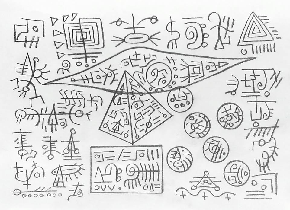 Треугольник с кружками рисунок